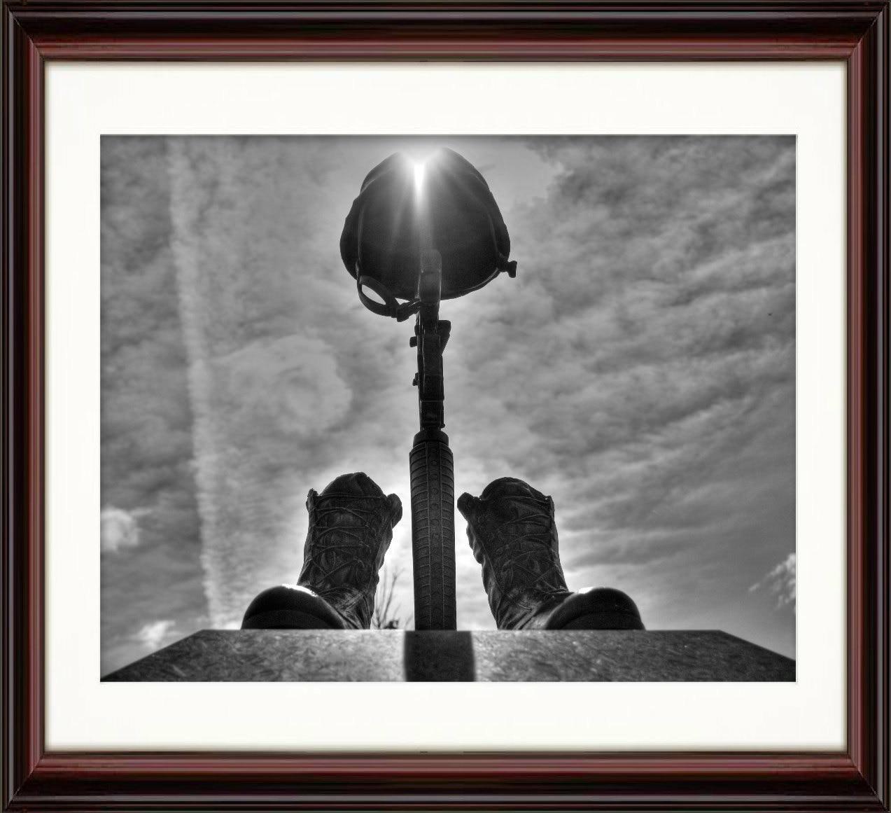 Gefallenen Soldaten Schlachtfeld Kreuz Kunstdruck