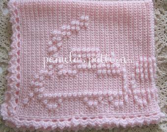 Crochet Train PDF e Pattern Boy or Girl 34 x 30 inches (86 x 76 cm)
