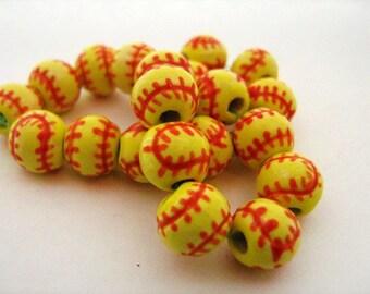20 Softball Beads - Small (8-9mm)