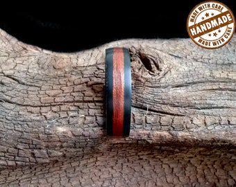 Walnut-Zebrano Bentwood ring semi-satin