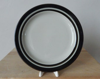 Arabia of Finland Karelia Salad Plate Handpainted Designed by Anja Jaatinen Winquist Ceramic Plate 1970s