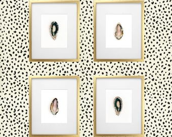 Agate Slice gallery wall -  Set of prints,  Agate Print, Agate Slice Art, Geode Slice Art, Home Decor, Mineral Art, Geode Art, Geode Print,