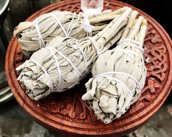 Sacred White Sage Stick - Torch Style for Smudging - Cleansing Ritual - Smudge Stick - Altar - Pagan - Wicca - Witchcraft