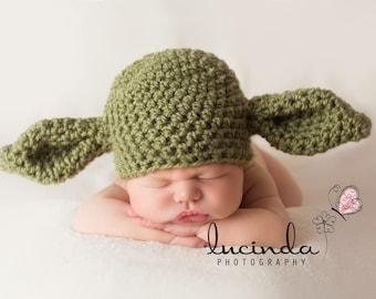 Yoda star wars beanie hat. Newborn - 3 months Great photo photography prop.