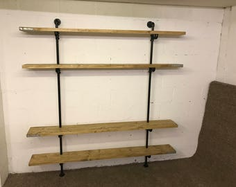 Scaffold board and steel pipe & fittings tv unit shelving