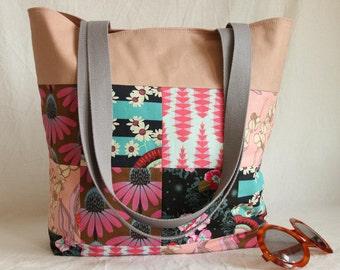 Beach bag, shopper, patchwork
