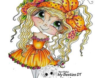 INSTANT DOWMLOAD Digital Digi Stamps Birthstone Bestie Big Eye Big Head Dolls  My Besties Giggle Box Bestie  Digi Scan0085  By Sherri Baldy