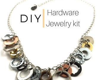 DIY Jewelry Kit Charm Necklace Hardware Jewelry