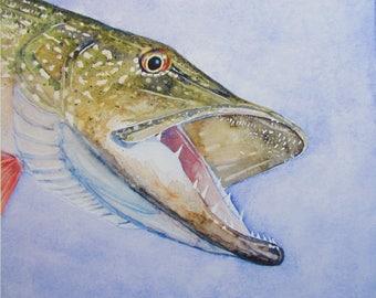 Fish Print Pike 01