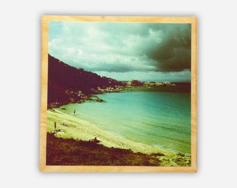 CRYSTAL COVE - Archival Square Print Mounted to Birch Panel Box - Ready to Hang, Saturated Photograph of Cove in California