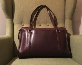 Coach burgundy tote briefcase XL