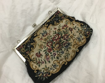Vintage Tapestry inspired clutch purse