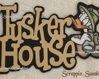 DISNEY Tusker House - Donald Die Cut Title - Scrapbook Page Paper Piece - SSFF