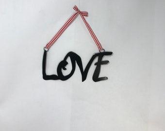 Love, metal wall art, wall words