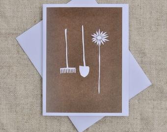 Garden Tools- Blank Greeting Card