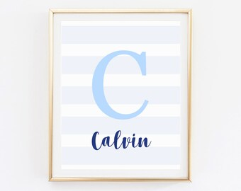 Baby boy gift personalized, Baby nursery decor, Initial decor for nursery, Initial nursery wall decor, Letter decor, Letter Wall Art