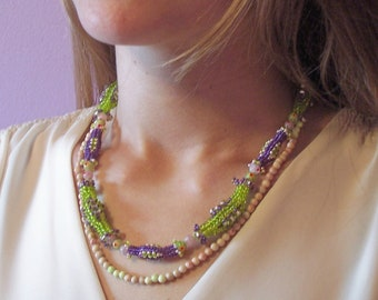 Fiesta Necklace, Beading Tutorial in PDF