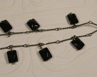 USA Black bellagio crystal necklace
