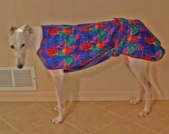P13 Tye Dye Woof Greyhound Jammie.