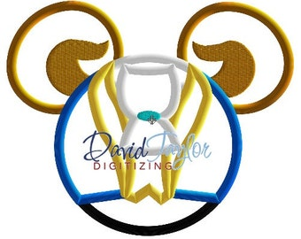 Mickey Head - Beast - Embroidery Machine Design - Applique - Instant Download - David Taylor Digitizing