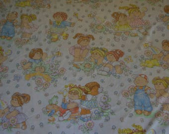 Vintage Cabbage Patch 1983 Twin Flat Bed Sheet or Fabric OAA Inc.