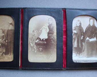 Antique Photo Folio with Cabinet Cards