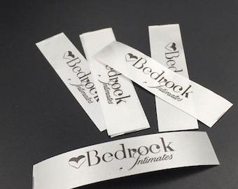 100 Custom printed labels, satin printed labels, satin labels, printed labels