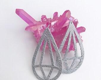 Silver Diamond Lightweight Diffuser Earrings
