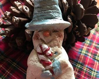 Salt dough snowman ornament