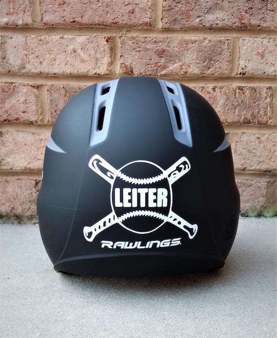 Personalized Baseball Helmet Name Decal Your Name Baseball