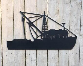 Boat Metal Decor