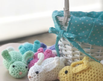 Bunnies Crochet Set of 6 in a Gift bag with custom name