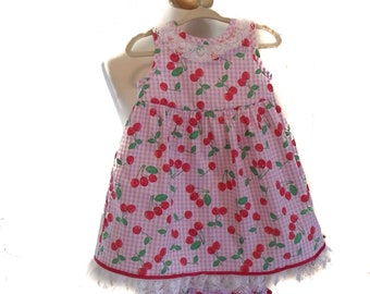 My Baby's Pink Gingham Dress