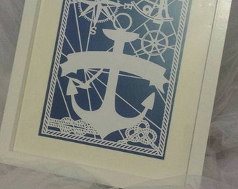 nautical paper cut