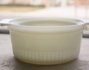 Milk Glass Mixing Bowl, Anchor Hocking, Medium