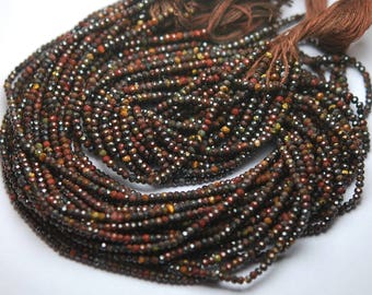 13 Inch Strand,Finest Quality,Natural Tiger Eye Micro Faceted Rondelles,2.50mm size