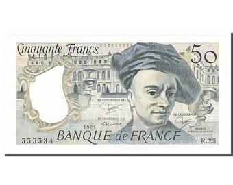 france 50 francs 50 f 1976-1992 ''quentin de la tour'' 1981 km #152b...