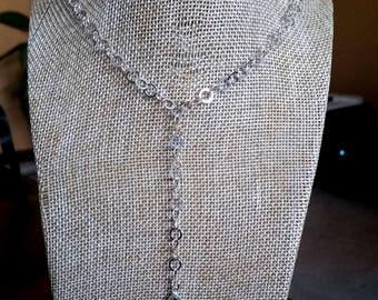 Druzy Sterling Silver Y Necklace