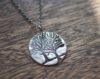 My Favorite Tree Tree Of Life Necklace, Sterling Silver Tree of Life Charm Best Friend Gift Tree Of Life Jewelry Silver Tree Necklace