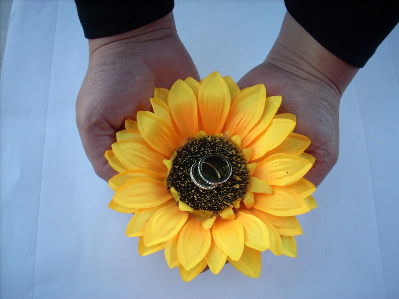 Sonnenblume Ring Inhaber Sonnenblume Ehering Kissen