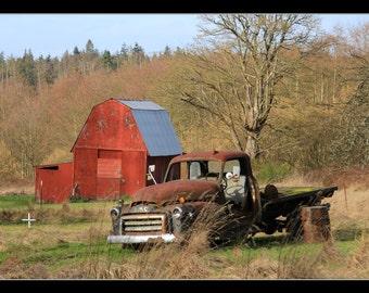 forgotten farm truck Photography Print