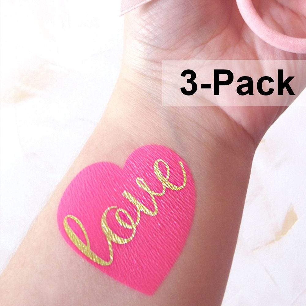 Valentine Tattoos Temporary Tattoos for Adults Love Flash