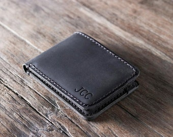 Mens wallet, leather wallet, groomsmen gift, gift for groom, boyfriend gift, husband gift, father gift, mens gift, gifts for him 002R