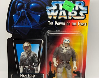 Han Solo Hoth Gear Star Wars The Power of The Force Vintage Collectible Toy Kenner 1995 Action Figure NIP New Hope Empire Rebel