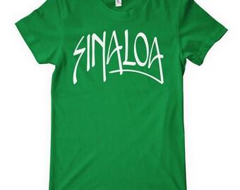 Women's Sinaloa T-shirt - Handstyle Mexico - S M L XL 2x - Ladies Sinaloa Tee - 4 Colors