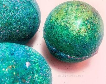 Mermaid Bath Bomb, Jumbo Bath Bomb, Bath Bomb, Bath Fizzy, Mermaid Bath, Colorful Bath Bomb, Bath Bombs,  ASHERAH MERMAID SPLASH
