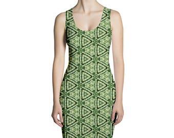 Bamboo pattern dress
