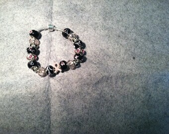 9 in Bangle Bracelet, Breast Cancer Awareness