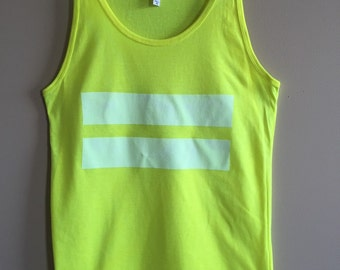 Neon Yellow Equal Rights EQUALITY Tank