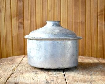 Antique copper pot, Antique primitive cooking pot, Antique Ottoman-Turkish pot, Hand hammered solid copper pot from 1910s, Vintage gift